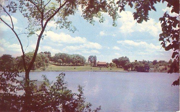 Lake McBride near Iowa City IA Chrome Postcard - 1871