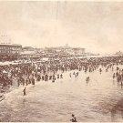 Bathing Scene at Atlantic City New Jersey NJ Vintage Postcard - 1886