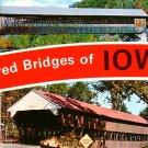 Covered Bridges of Iowa IA Chrome Postcard - 1896