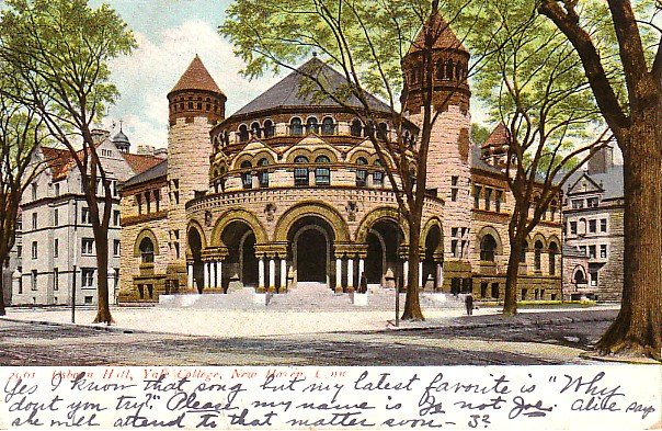 Osborn Hall at Yale College in New Haven Connecticut CT 1906 Vintage Postcard - 1805