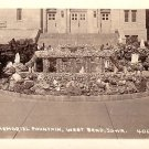 War Memorial Fountain in West Bend Iowa IA Real Photo Post Card - 1948
