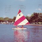 Sailing on Big Spirit Lake in Iowa IA Chrome Postcard - 1951