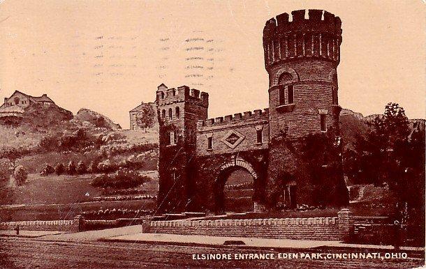 Elsinore Entrance to Eden Park in Cincinnati Ohio OH, Vintage 1917 Postcard - 2030