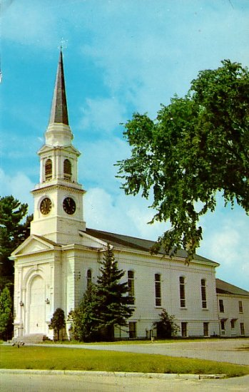 Congregational Church in Wilmington Massachusetts MA Chrome Postcard - 2099
