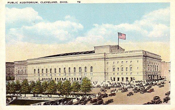Public Auditorium in Cleveland Ohio OH Vintage Postcard - 2105