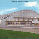 Denver Coliseum in Colorado CO Mid Century Linen Postcard - 2255
