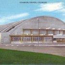 Denver Coliseum in Colorado CO Mid Century Linen Postcard - 2255
