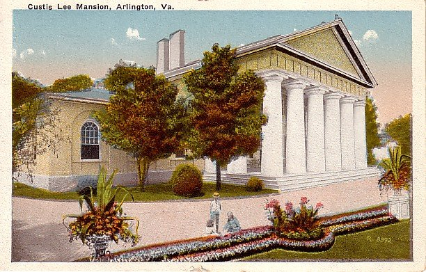 Custis Lee Mansion in Arlington Virginia VA, Vintage Postcard - 2287