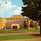 Veteran's Administration Hospital in Iron Mountain Michigan MI Postcard - 2315