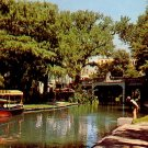 River Walk beside the San Antonio River in Texas TX, Chrome Postcard - 2350