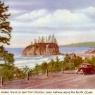 Abbey Island From the Olympic Loop Highway in Washington WA Vintage Postcard - 2367