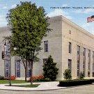 Public Library in Toledo Ohio OH, Mid Century Linen Postcard - 2383