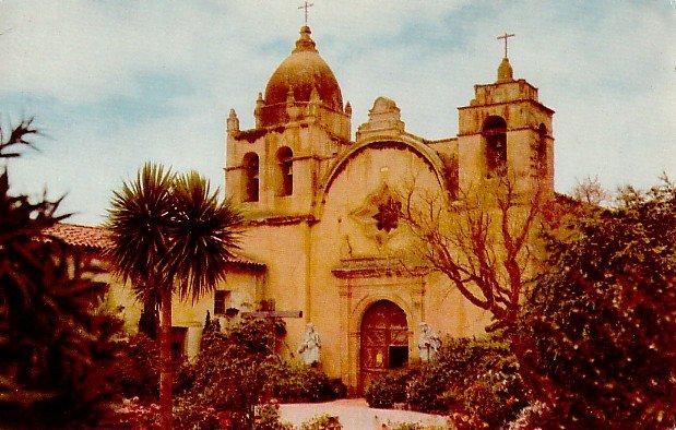 San Carlos Mission in Carmel California CA Union Oil Company Postcard - 2443