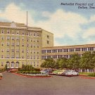 Methodist Hospital and Nurses Home in Dallas Texas TX, 1953 Curt Teich Linen Postcard - 2449