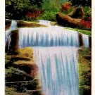 Dome Falls in the Great Smoky Mountains National Park Linen Postcard - 2454