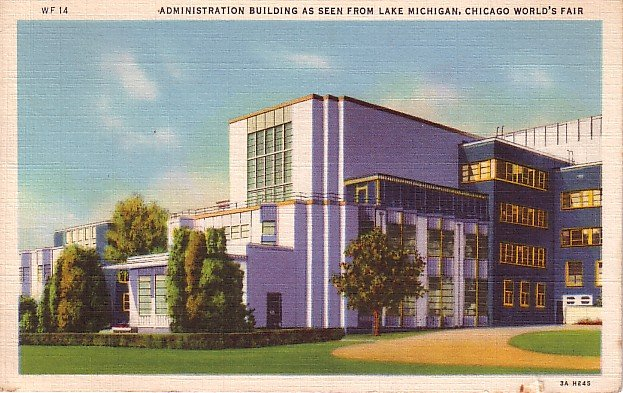 Administration Buildings from 1933 Chicago Century of Progress World's Fair Postcard - 2465