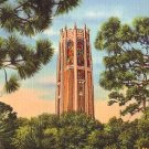 Bok Singing Tower in Lake Wales Florida FL, Linen Postcard - 2474