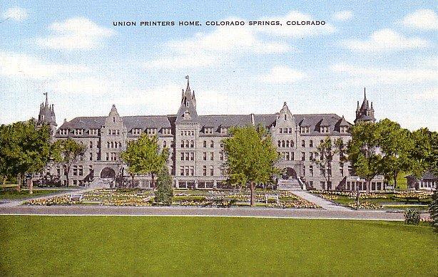 Union Printers Home in Colorado Springs CO, Linen Postcard - 2495