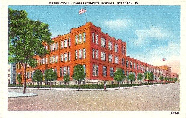 International Correspondence Schools Scranton Pennsylvania Linen Postcard - 2497