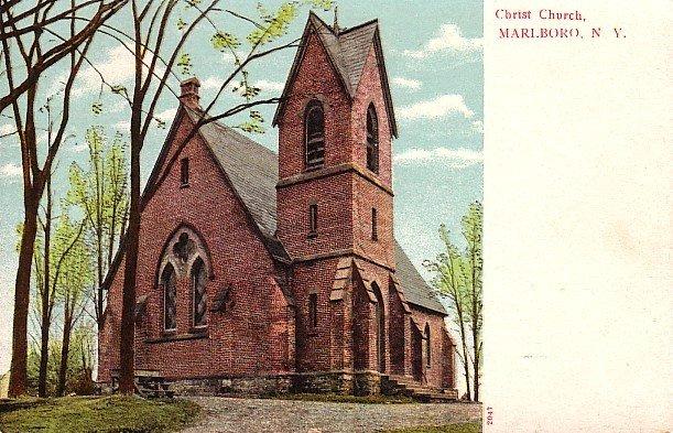 Christ Church in Marlboro New York NY, Vintage Postcard - 2539