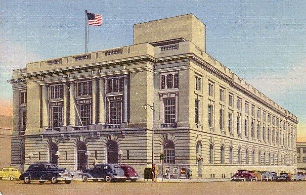 United States Post Office in Spokane Washington WA, Curt Teich 1948 Linen Postcard - 2592