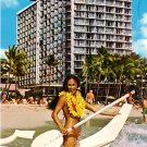 Outrigger Hotel on Waikiki Beach Honolulu Hawaii HI, Chrome Postcard - 2600