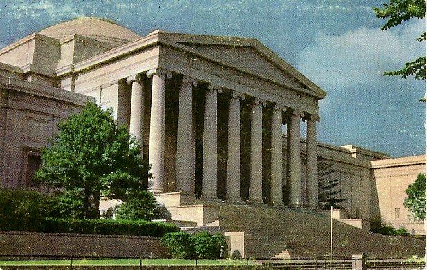 National Gallery of Art in Washington DC, Chrome Postcard - 2605
