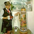Beer Stein at Frankenmuth Bavarian Inn in Michigan MI, Chrome Postcard - 2642