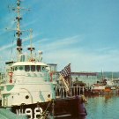 Coast Guard Boat in Rockland Maine ME, Chrome Postcard - 2648