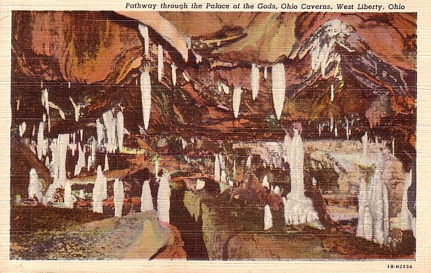 Ohio Caverns in West Liberty Ohio OH, 1941 Curt Teich Linen Postcard - 2651