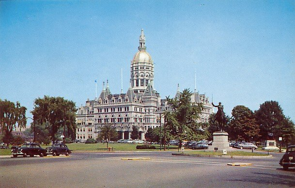 State Capitol at Hartford Connecticut CT, Chrome Postcard - 2668