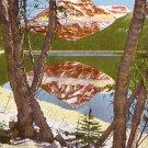 Lake McDonald at Glacier National Park in Montana MT, Linen Postcard - 2696