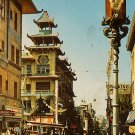 Chinatowns Grant Avenue in San Francisco California CA Chrome Postcard - 2701