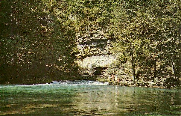 Big Spring State Park in Van Buren Misouri MO, Chrome Postcard - 2723