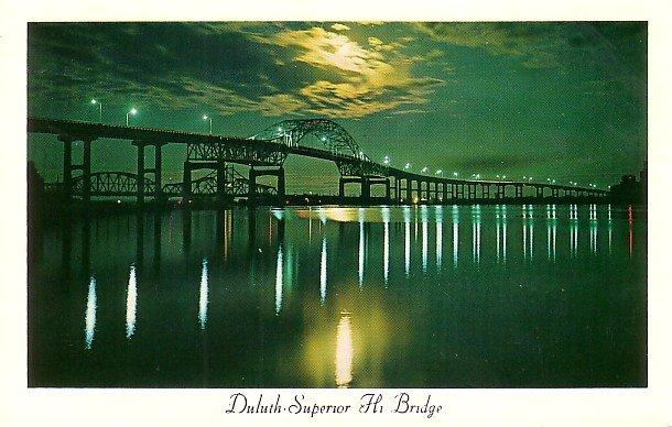 Duluth Superior Hi Bridge Connecting Minnesota and Wisconsin Postcard - 2732