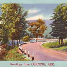 Greetings from Corning Arkansas AR, 1953 Mid Century Linen Postcard - 2747