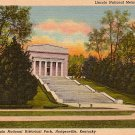 Abe Lincoln National Historical Park in Hodgenville Kentucky, 1941 Curt Teich Linen Postcard - 2758