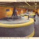 TVA Dam Generators in Kentucky KY, 1950 Curt Teich Linen Postcard - 2763
