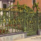 The Famous Corn Fence in New Orleans Louisiana LA, 1941 Curt Teich Linen Postcard - 2766