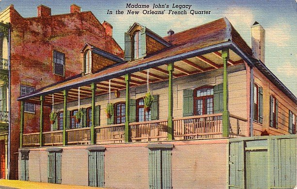 Madame John's Legacy in New Orleans Louisiana LA, 1939 Curt Teich Linen Postcard - 2770