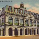 The Cabildo in New Orleans Louisiana LA, 1937 Curt Teich Linen Postcard - 2772