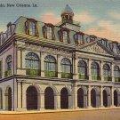 The Cabildo in New Orleans Louisiana LA, 1937 Curt Teich Linen Postcard - 2772
