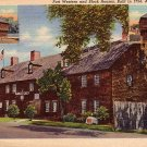 Fort Western and Block Houses in Augusta Maine ME, Curt Teich Postcard - 2817