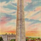 Bunker Hill Monument in Boston Massachusetts MA, Linen Postcard - 2829