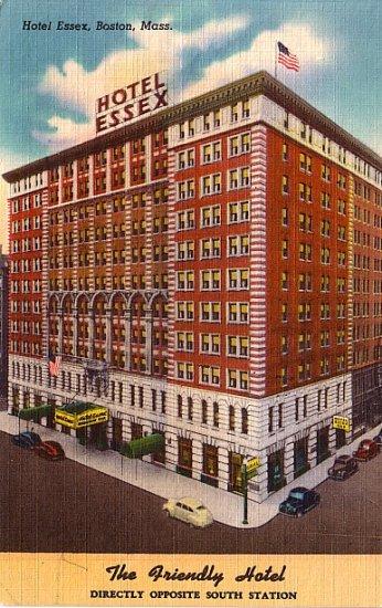 Hotel Essex in Boston Massachusetts MA, Linen Postcard - 2837