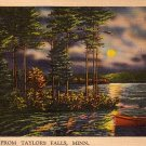 Greetings from Taylors Falls Minnesota MN, Mid Century Linen Postcard - 2860