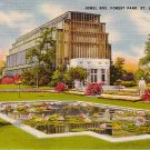 Jewel Box in Forest Park at St. Louis Missouri MO, Mid Century Linen Postcard - 2869