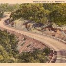U.S. Highway 71 in the Ozarks, Missouri MO 1937 Curt Teich Linen Postcard - 2871