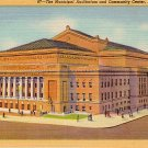 Municipal Auditorium and Community Center in St. Louis Missouri MO, 1933 Curt Teich Postcard - 2872