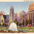 Sunken Gardens in St. Louis Missouri MO, 1933 Curt Teich Linen Postcard - 2880